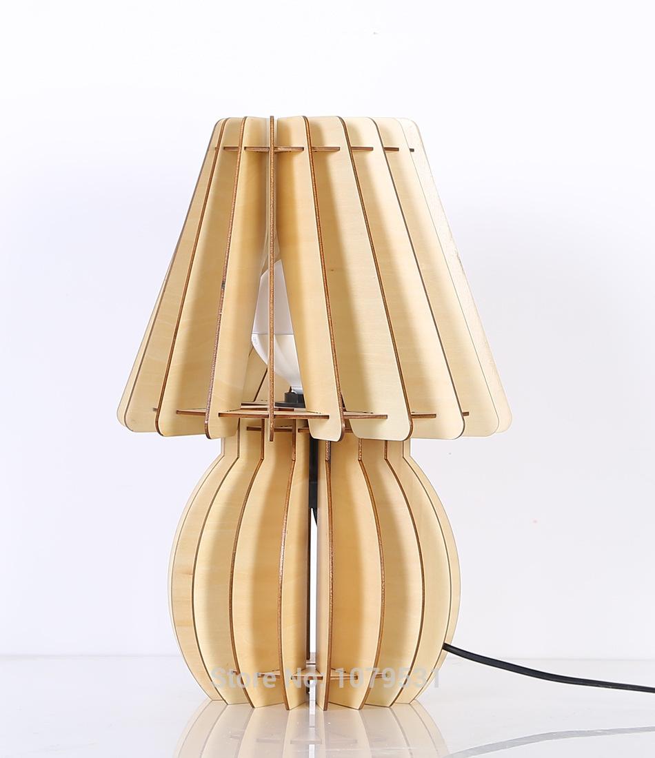 simple modern fashion original solid wood creative bedside lamp bedroom table. Black Bedroom Furniture Sets. Home Design Ideas