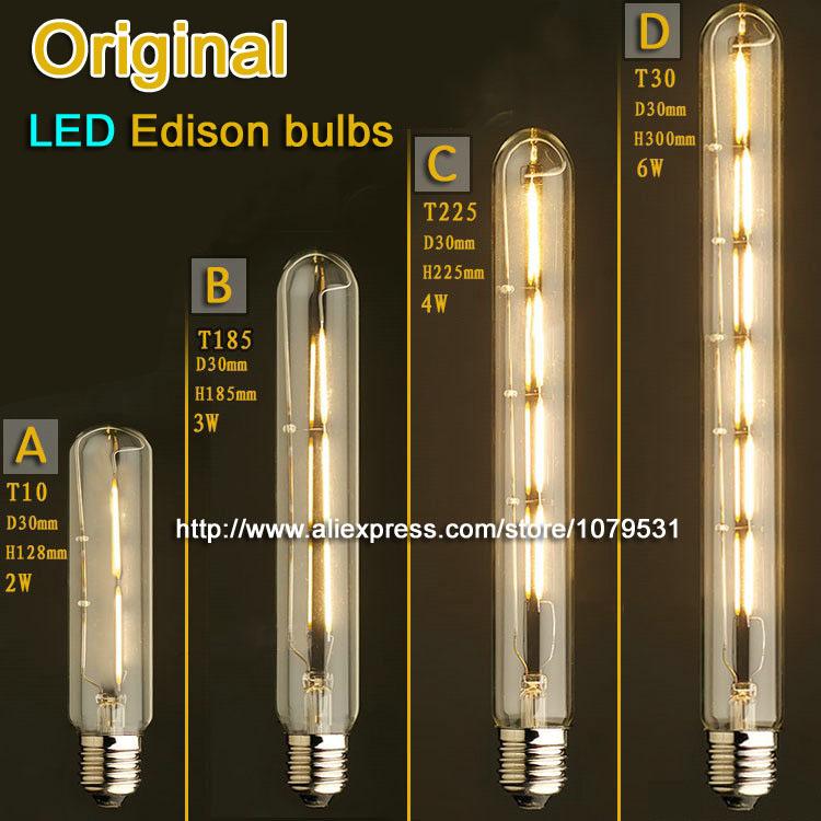 Vintage Flute Led Edison Light Bulb E27 2w 3w 4w 6w 110v