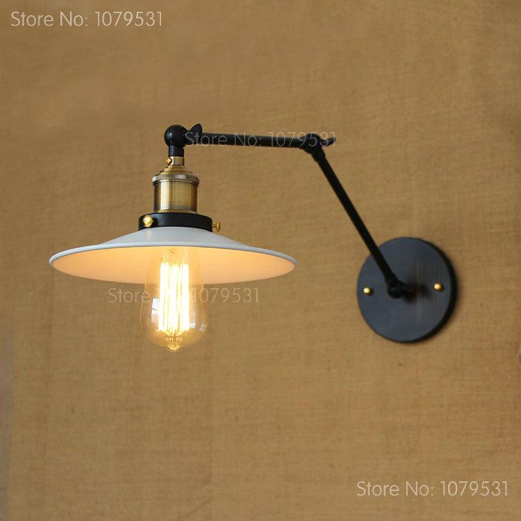 vintage industrial style loft adjustable swing arm wall light balcony aisle  stairs corridor restaurant bar long